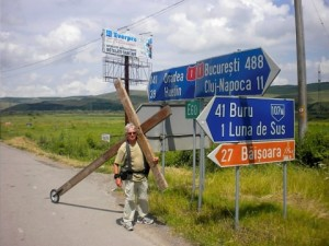 Walking with the cross in Romania